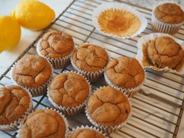 Lemon Poppyseed Chickpea Muffins