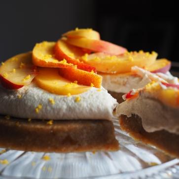 Raw Peaches and Cream Tart