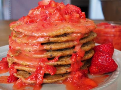 Strawberry Quinoa Pancakes